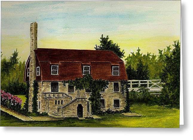 Pioneer Illustration Greeting Cards - Pioneer Pavilion - Mill Creek Park Greeting Card by Michael Vigliotti