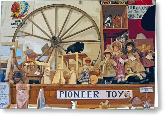 Historical Re-enactments Digital Art Greeting Cards - Pioneer Series 5 Greeting Card by Steve Ohlsen