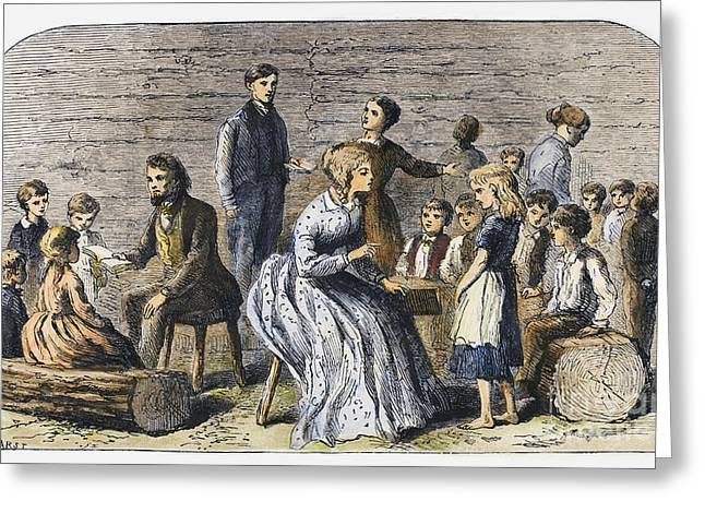 One Room School Houses Photographs Greeting Cards - Pioneer Sunday School Greeting Card by Granger