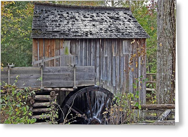 Gatlinburg Tennessee Greeting Cards - Pioneer Water Mill Greeting Card by DigiArt Diaries by Vicky B Fuller