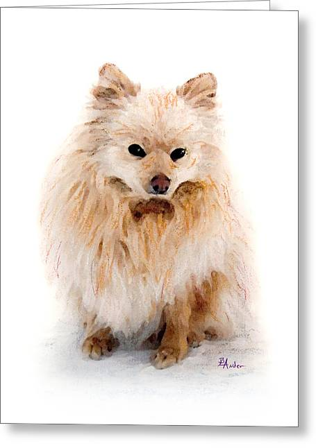Puppies Pastels Greeting Cards - Pip Greeting Card by Brent Ander