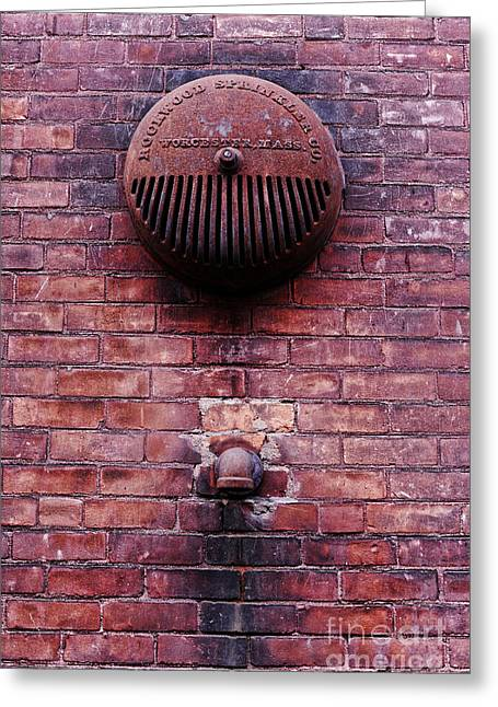 Drain Greeting Cards - Pipe and Alarm Greeting Card by HD Connelly