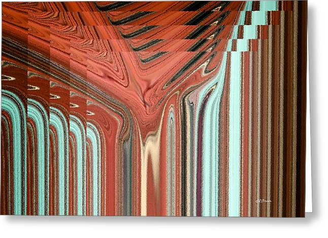 Pixel Stretching Greeting Cards - Pipe Dream Greeting Card by Greg Reed Brown