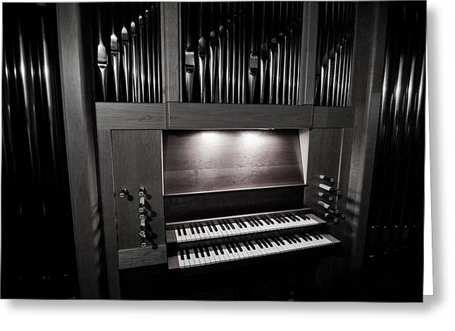 Pipe Organ Greeting Cards - Pipe Organ - Two Greeting Card by Sam Hymas