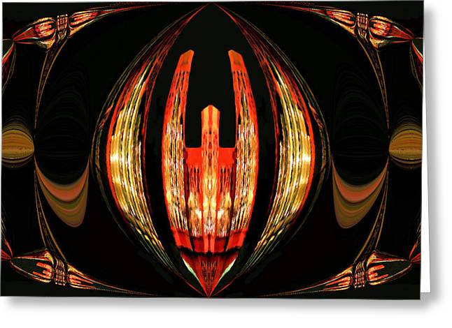 Pipe Organ Greeting Cards - Pipe Organ Abstract Greeting Card by Kristin Elmquist