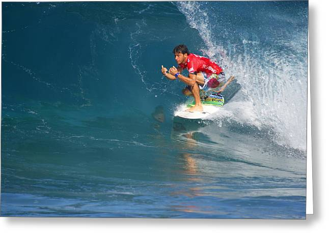 Jeremy Greeting Cards - Pipeline Masters Champion Greeting Card by Kevin Smith