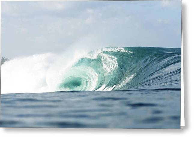 Vince Greeting Cards - Pipeline Turquoise Wave Greeting Card by Vince Cavataio - Printscapes