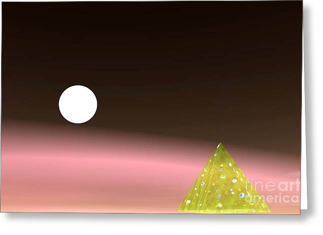 Piramide And Planet Greeting Card by Odon Czintos