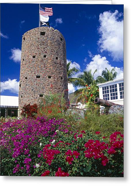 Charlotte Greeting Cards - Pirate Castle Tower Greeting Card by George Oze