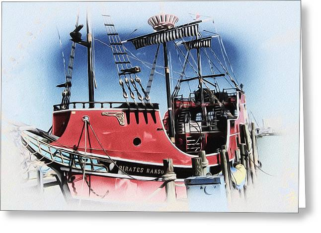 Pirates Ransom - Clearwater Florida Greeting Card by Bill Cannon
