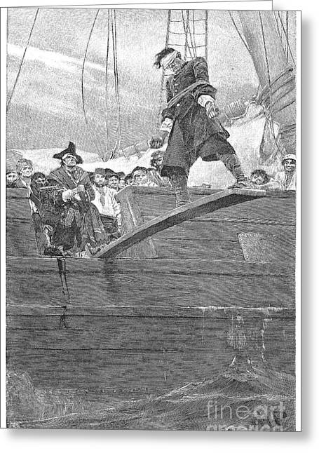 Pirate Ships Greeting Cards - Pirates: Walking The Plank Greeting Card by Granger