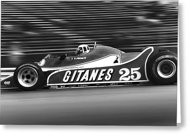 Canadian Grand Prix Greeting Cards - Pironi at Speed Greeting Card by Mike Flynn
