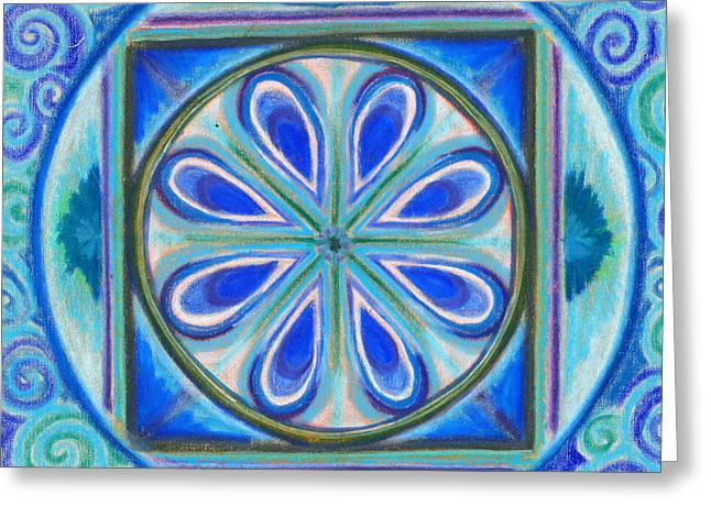 Blue And Green Pastels Greeting Cards - Pisces Full Moon Greeting Card by Ivy Tomashoff