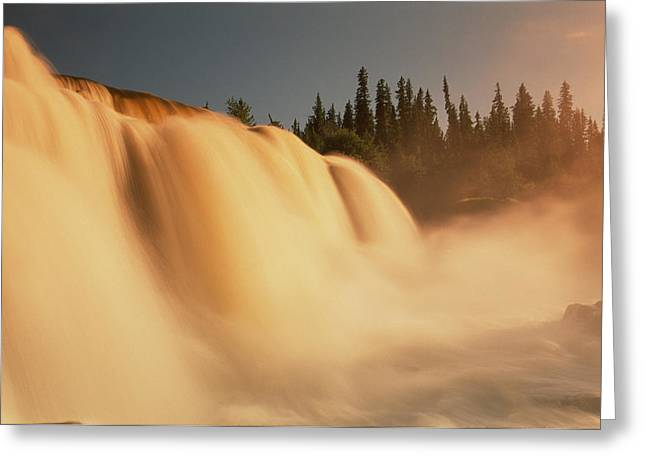 Empowerment Greeting Cards - Pisew Falls Greeting Card by Dave Reede