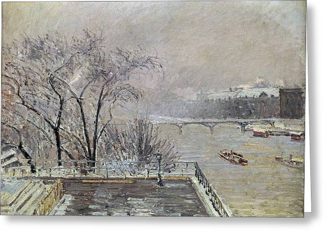 The Restricted Greeting Cards - Pissarro: Louvre, 1902 Greeting Card by Granger