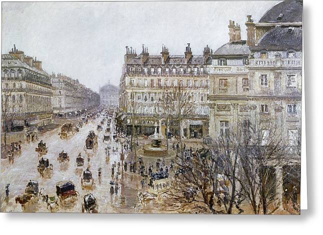 Pissaro Greeting Cards - Pissarro: Theatre Francais Greeting Card by Granger