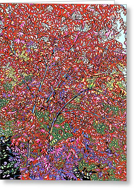 Nadi Spencer Paintings Greeting Cards - Pistache Tree Greeting Card by Nadi Spencer