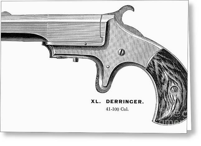 1880s Greeting Cards - PISTOL, 19th CENTURY Greeting Card by Granger