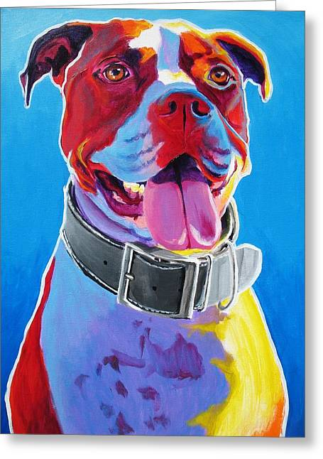 Pit Bull - Buster Greeting Card by Alicia VanNoy Call