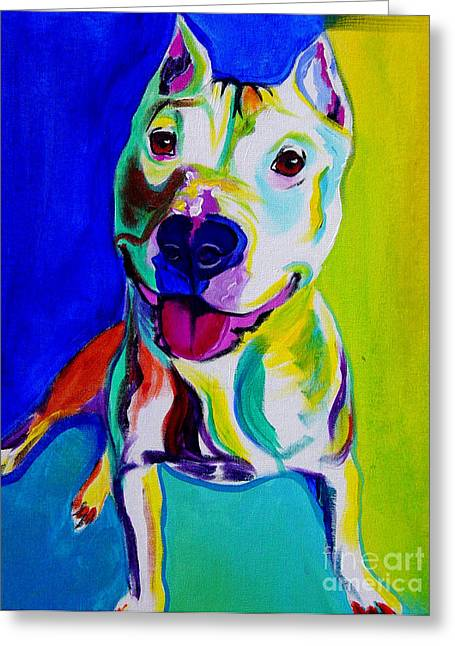 Alicia Vannoy Call Greeting Cards - Pit Bull - Hercules Greeting Card by Alicia VanNoy Call
