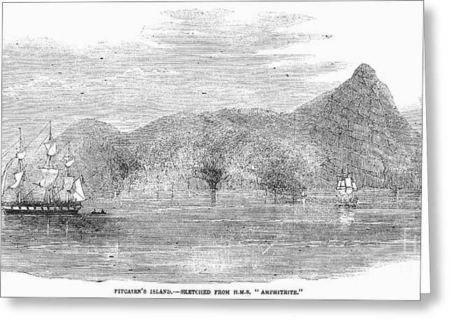 Sailing Ship Greeting Cards - Pitcairn Island, 1856 Greeting Card by Granger