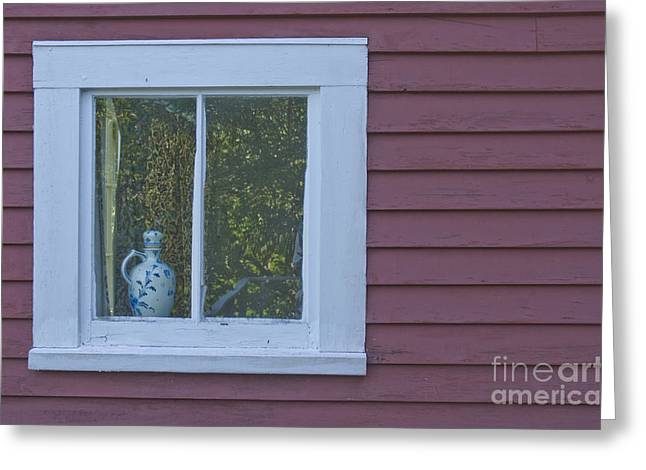 Pitcher In Window Greeting Card by Jim Wright