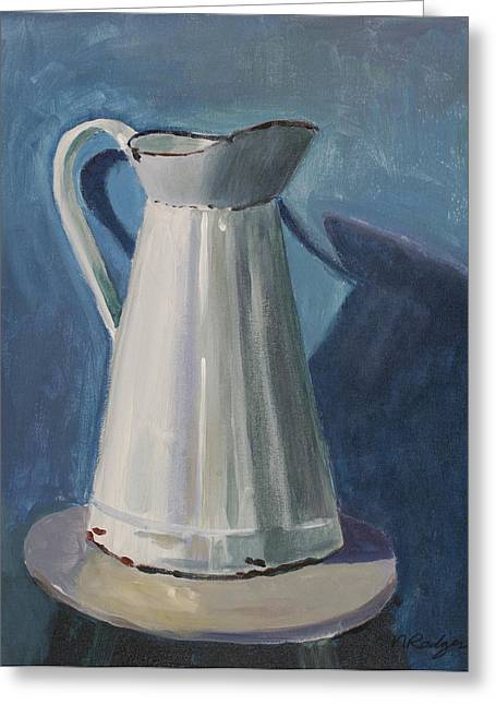 Old Pitcher Paintings Greeting Cards - Pitcher Greeting Card by Nancy Rodger