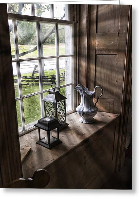 Western New York Greeting Cards - Pitcher Window Greeting Card by Peter Chilelli