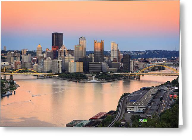 Pnc Park Greeting Cards - Pittsburgh 16 Greeting Card by Emmanuel Panagiotakis