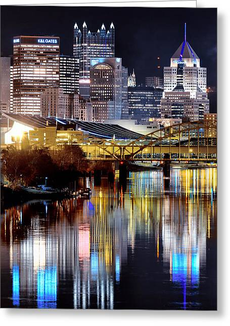 Pnc Park Greeting Cards - Pittsburgh 2 Greeting Card by Emmanuel Panagiotakis