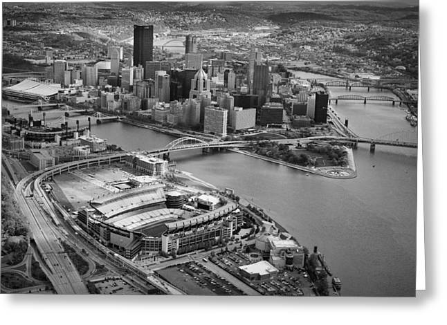 Pnc Park Greeting Cards - Pittsburgh 9 Greeting Card by Emmanuel Panagiotakis