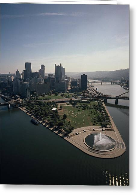 River Of Life Greeting Cards - Pittsburgh And The Confluence Greeting Card by Lynn Johnson