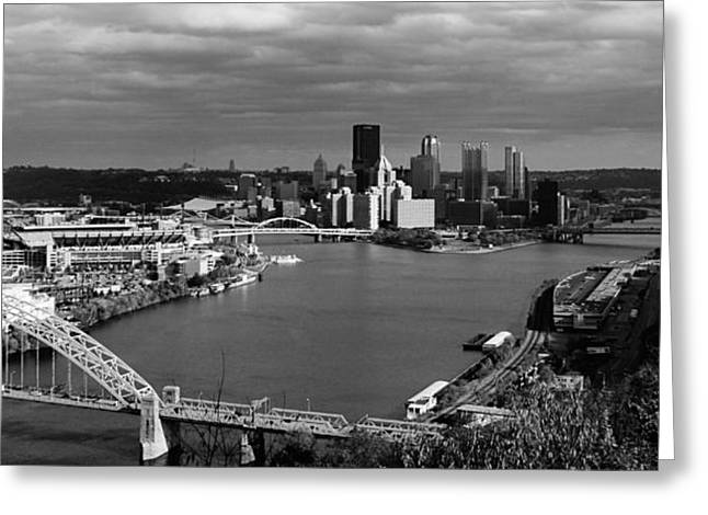 Phipps Conservatory Greeting Cards - Pittsburgh in Black and White Greeting Card by Michelle Joseph-Long