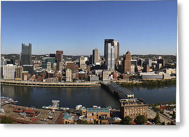 Pittsburgh Panoramic Greeting Card by Teresa Mucha