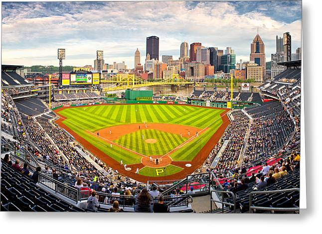 Pnc Park Greeting Cards - Pittsburgh Pirates  Greeting Card by Emmanuel Panagiotakis