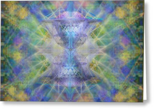 PiVortexSpheres on ChaliCell Garden Tapestry IVB Greeting Card by Christopher Pringer