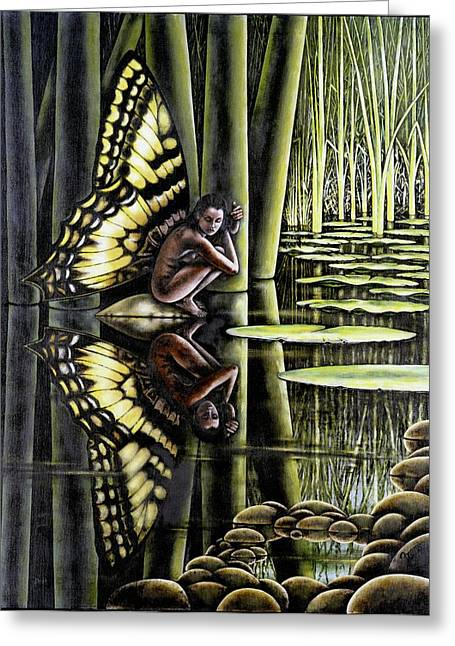 Lilly Pad Greeting Cards - Pixie I Greeting Card by Michael Frank