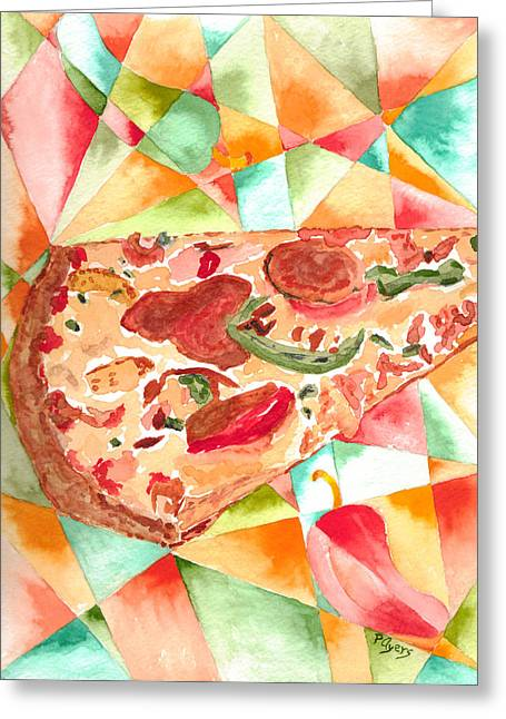 Recently Sold -  - Grocery Store Greeting Cards - Pizza Pizza Greeting Card by Paula Ayers