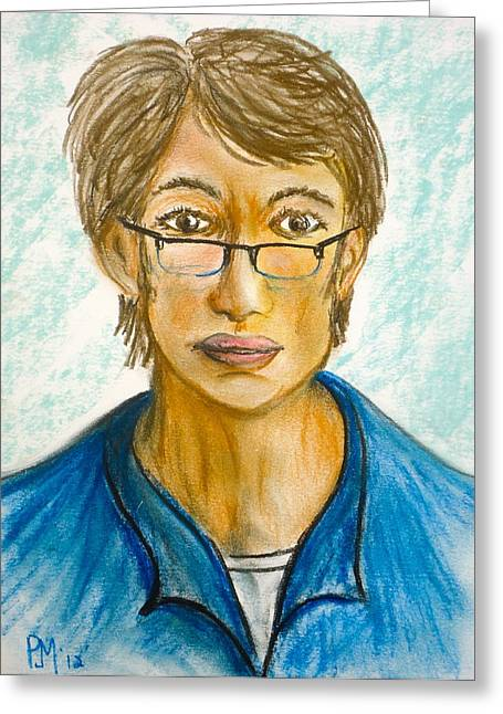Self Portrait Pastels Greeting Cards - Pjm Greeting Card by Pete Maier