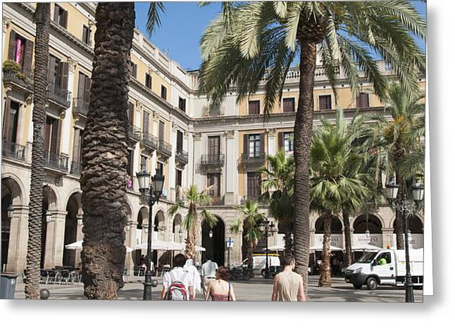 Placa Reial Barcelona Spain Greeting Card by Matthias Hauser