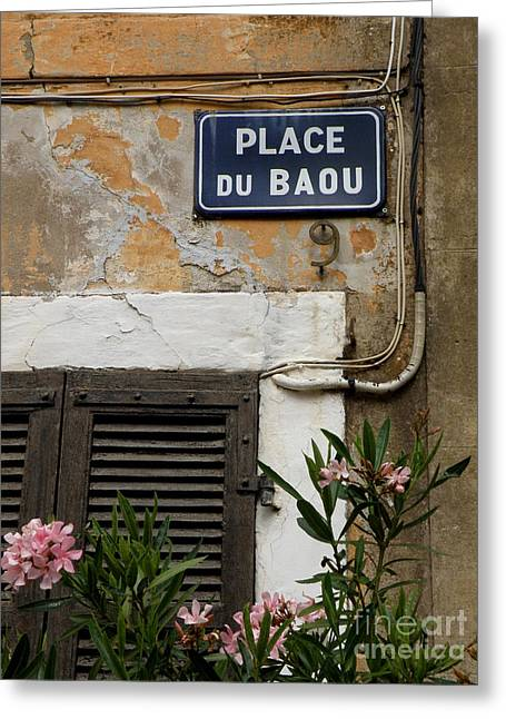 Lainie Wrightson Greeting Cards - PLACE du BAOU Greeting Card by Lainie Wrightson