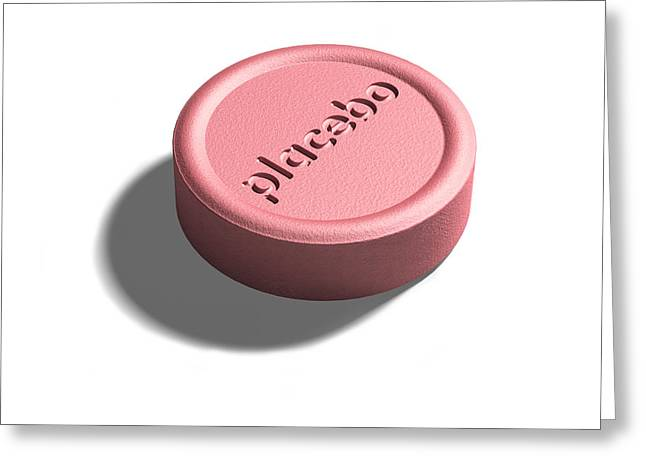 Placebo Pill Greeting Card by David Parker