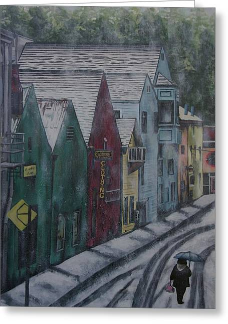 Placerville Greeting Card by Gracie Villareal