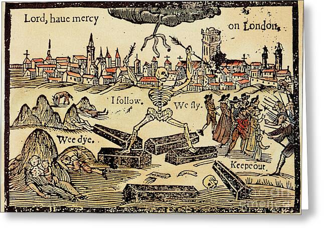 Plague Greeting Cards - Plague In London 1625 Greeting Card by Science Source
