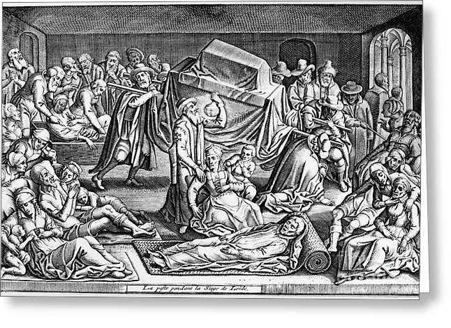 1574 Greeting Cards - Plague: Leiden, 1574 Greeting Card by Granger