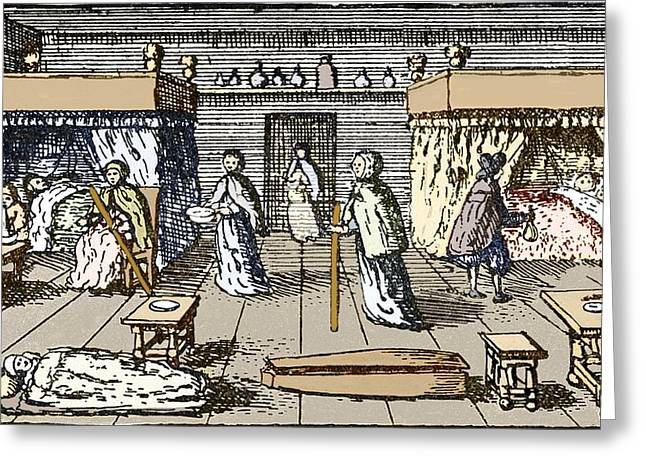 History Of Medicine Greeting Cards - Plague Victims, 17th Century London Greeting Card by Sheila Terry