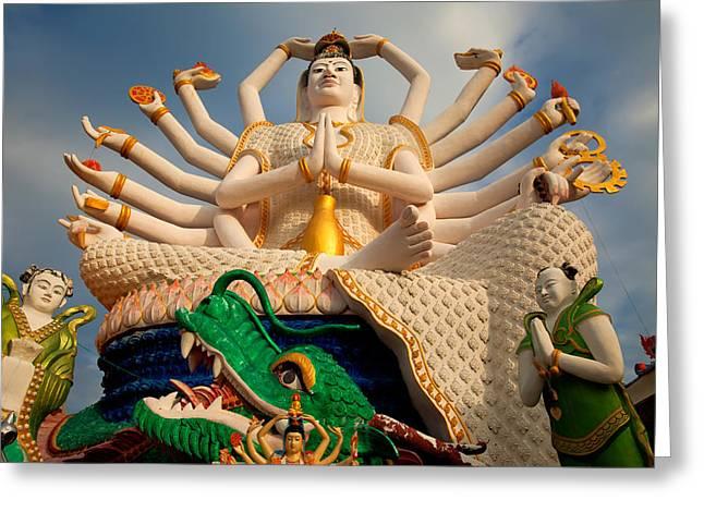 Plai Laem Buddha Greeting Card by Adrian Evans