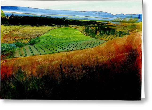 South Of France Mixed Media Greeting Cards - Plain de Rousette Greeting Card by David Bates
