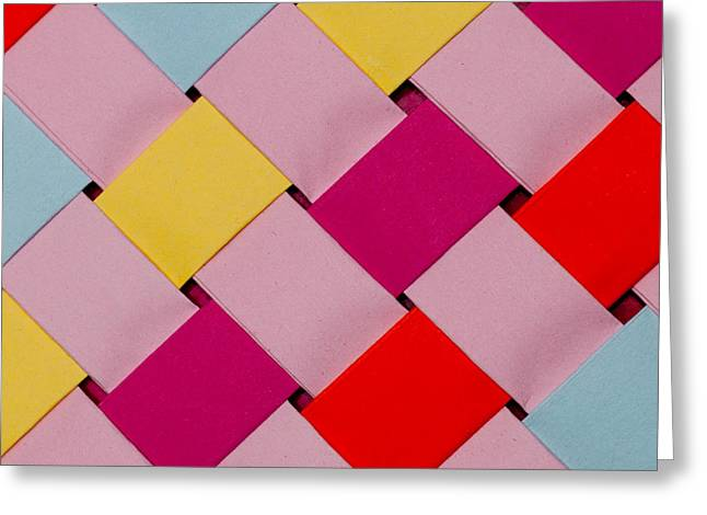 Red Art Sculptures Greeting Cards - Plaited Greeting Card by John White
