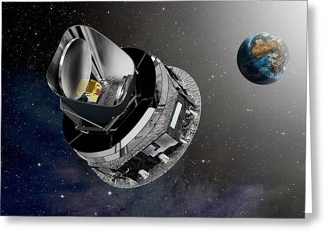 Planck Space Observatory, Artwork Greeting Card by David Ducros